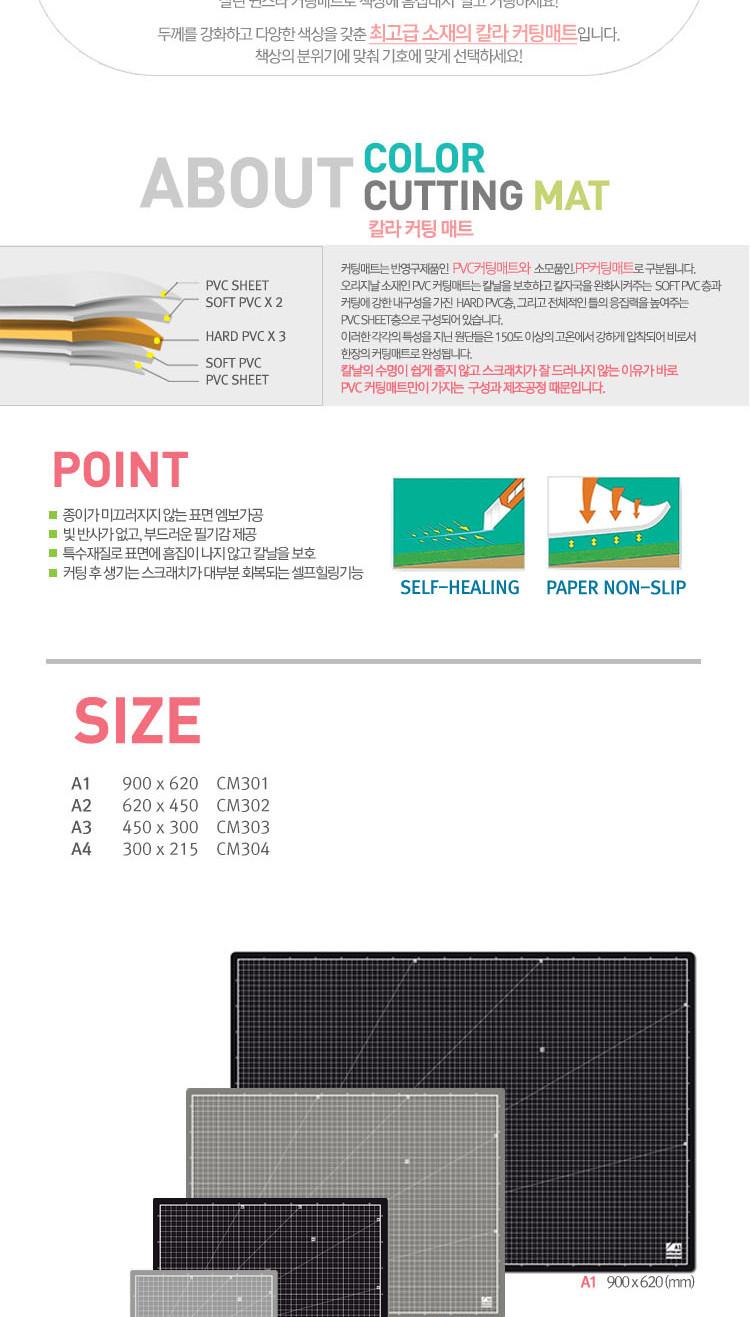 윈스타)커팅매트(A1 그레이) 커팅책상매트 다용도커팅 커팅책상매트 다용도커팅매트 논슬립커팅매트 PVC커팅매트 A1커팅매트