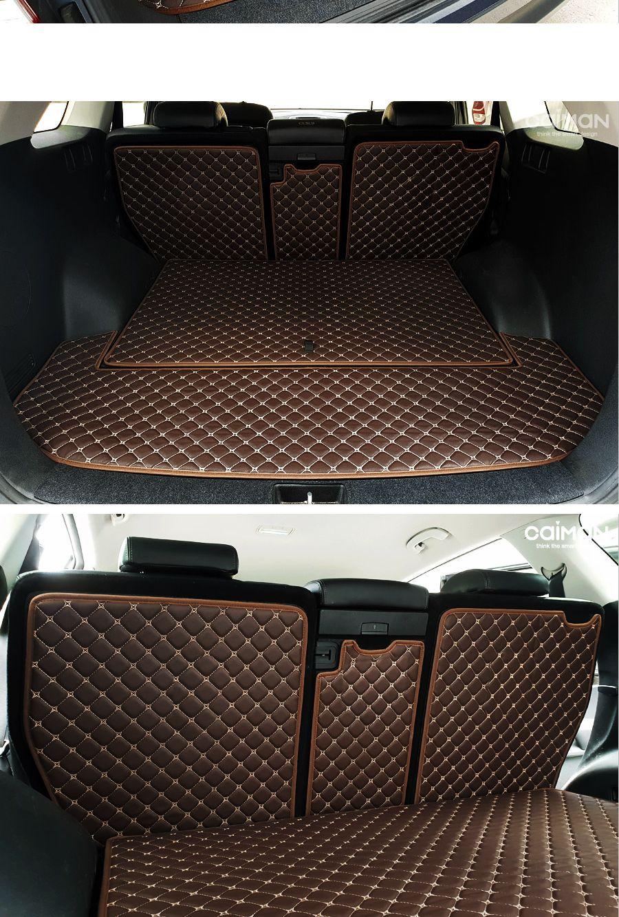(5인승-브라운) 카이만 퀄팅 레더트렁크 매트 (올뉴  트렁크용매트 자동차레더트렁크매트 레더트렁크매트 자동차트렁크매트 차량용매트