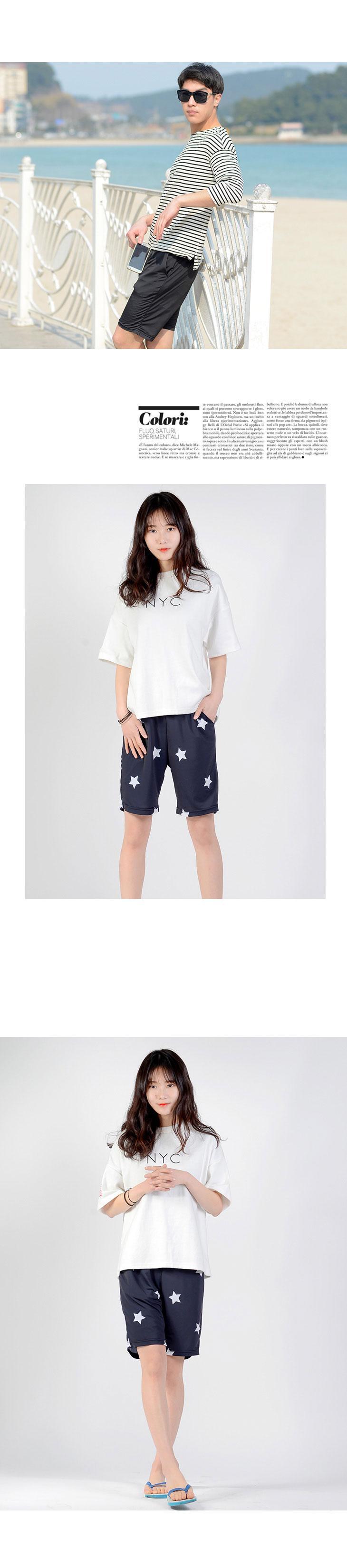 DHO3370 커플남자비치웨어시원한여름쿨반바지 남성패 남성패션반바지 패션반바지 여름바지 패셩바지 반바지